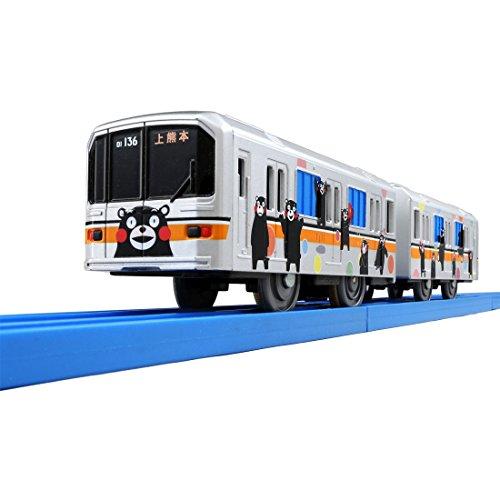 [해외]짱구 나도 사랑해! 즐거운 기차 시리즈 구마모토 전철 01 형 포장 전철 (くま몬바죤)/Plarail I love you too! Fun train series Kumamoto Electric Rail 01 type wrapping train (Kumamon Version)