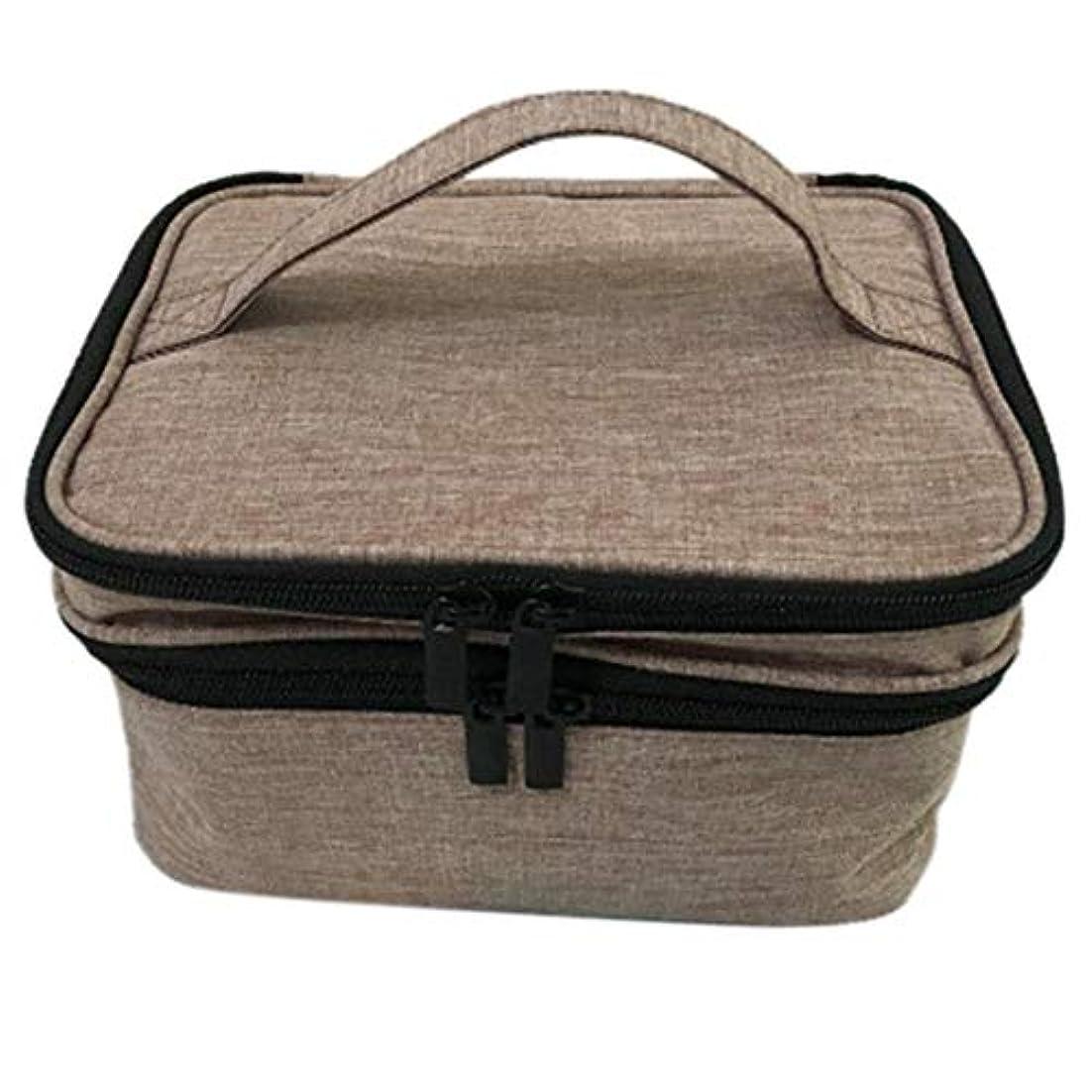 爬虫類イル車収納バッグ 30格 仕切り エッセンシャルオイル 精油 保管袋 収納ボックス 収納ケース 精油ケース 香水収納バッグ 不織布 携帯便利 耐震 30本用 (5ml~30ml)