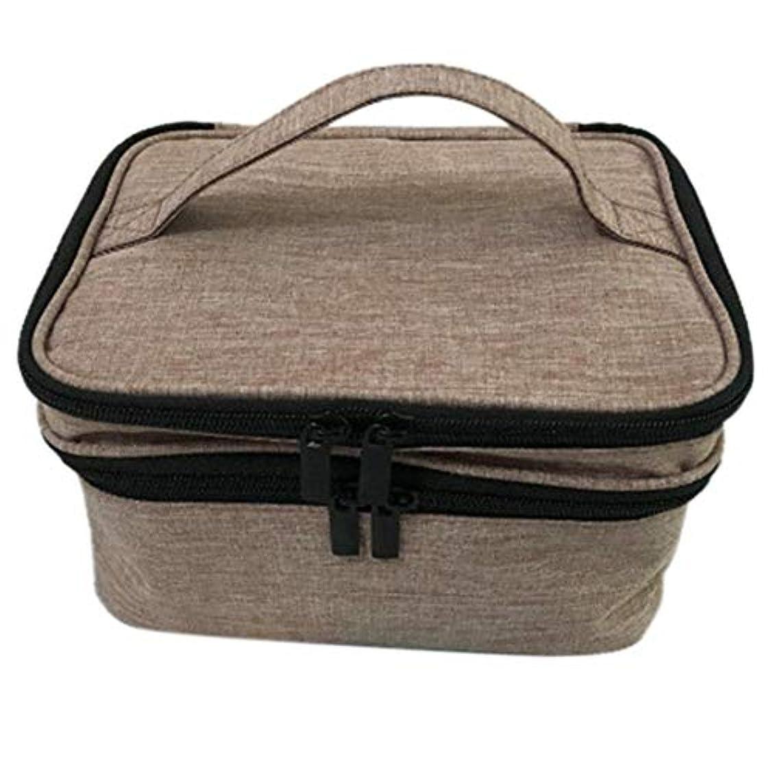 機密忠誠有利収納バッグ 30格 仕切り エッセンシャルオイル 精油 保管袋 収納ボックス 収納ケース 精油ケース 香水収納バッグ 不織布 携帯便利 耐震 30本用 (5ml~30ml)