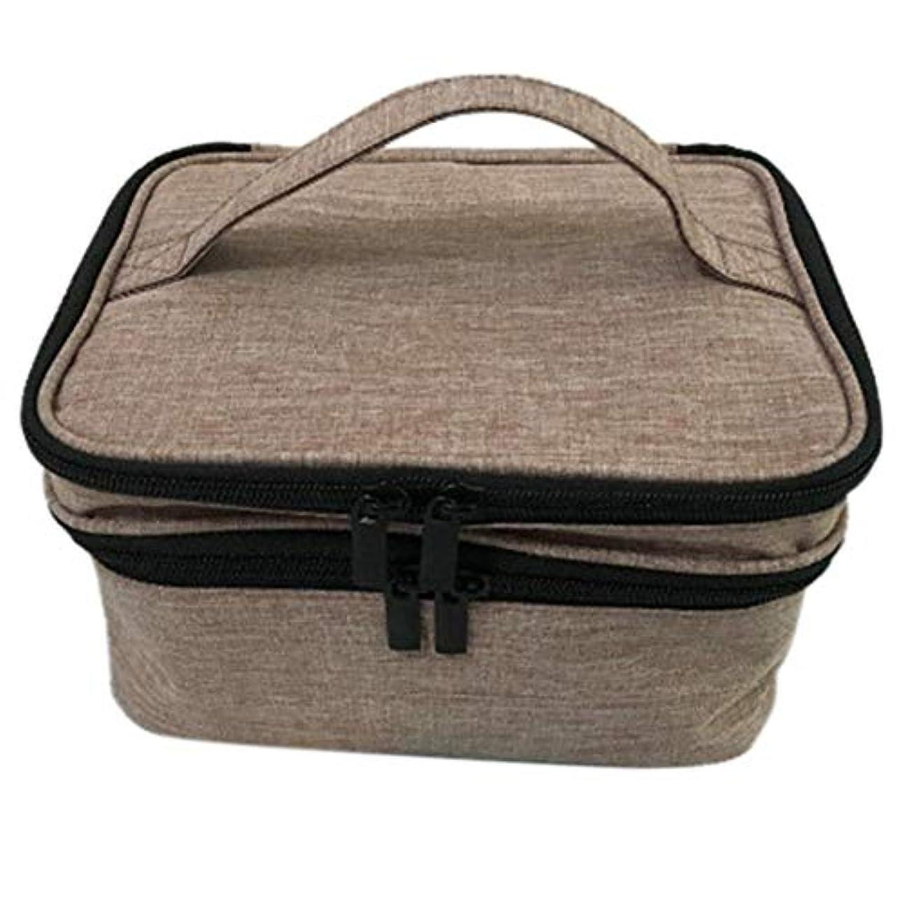 狂人準備スピン収納バッグ 30格 仕切り エッセンシャルオイル 精油 保管袋 収納ボックス 収納ケース 精油ケース 香水収納バッグ 不織布 携帯便利 耐震 30本用 (5ml~30ml)