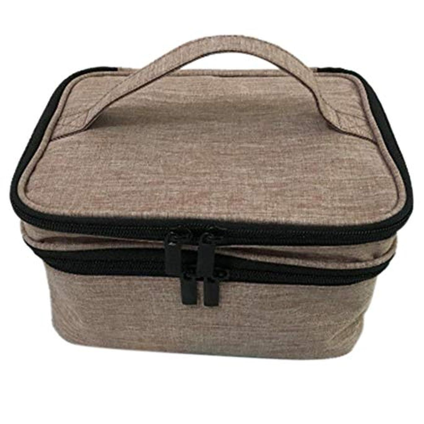 五十求める桁収納バッグ 30格 仕切り エッセンシャルオイル 精油 保管袋 収納ボックス 収納ケース 精油ケース 香水収納バッグ 不織布 携帯便利 耐震 30本用 (5ml~30ml)