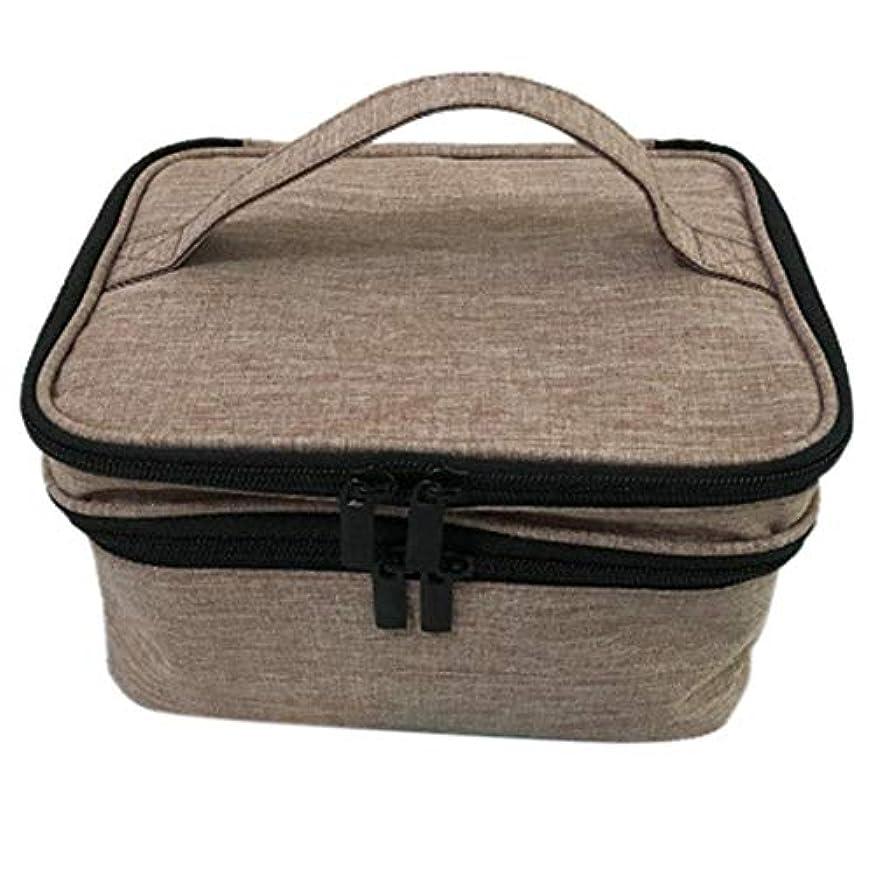 平行プロジェクターくるみ収納バッグ 30格 仕切り エッセンシャルオイル 精油 保管袋 収納ボックス 収納ケース 精油ケース 香水収納バッグ 不織布 携帯便利 耐震 30本用 (5ml~30ml)