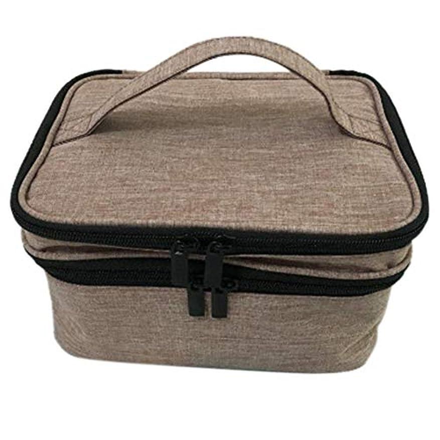膨張する設計図夜間収納バッグ 30格 仕切り エッセンシャルオイル 精油 保管袋 収納ボックス 収納ケース 精油ケース 香水収納バッグ 不織布 携帯便利 耐震 30本用 (5ml~30ml)