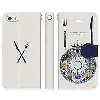ベルトなし iPhoneSE iPhone5S iPhone5 手帳型 ケース カバー 宙料理 よう 宇宙 月 星 wonder collection 魔法 きれい