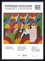 ポスター ハワード ホジキン Absent Friends The Tilsons Exhibition 額装品 ウッドハイグレードフレーム(ネイビー)