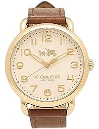 コーチ 時計 COACH 14502715 DELANCEY デランシー レディース腕時計ウォッチ ブラウン/ホワイト/イエローゴールド [並行輸入品]