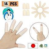 Pnrskter ジェル 指 ベッド プロテクター サポート (14 個入り) 指 手袋 指 袖トリガー 指 手湿疹 指 ひび割れ 指 関節炎 など に適し..