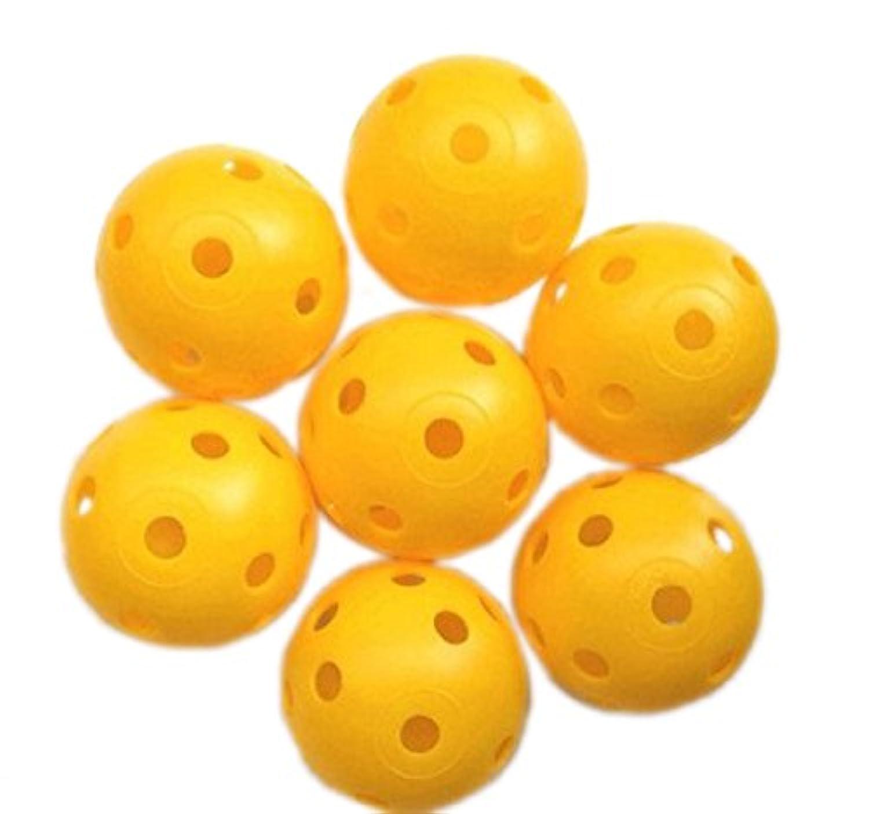 ピーボール 色が選べます 赤 黄 30 球 ゴルフ 練習用 ボール プラクティス ホローボール 室内 お庭 での 練習 に最適! (黄 (イエロー))