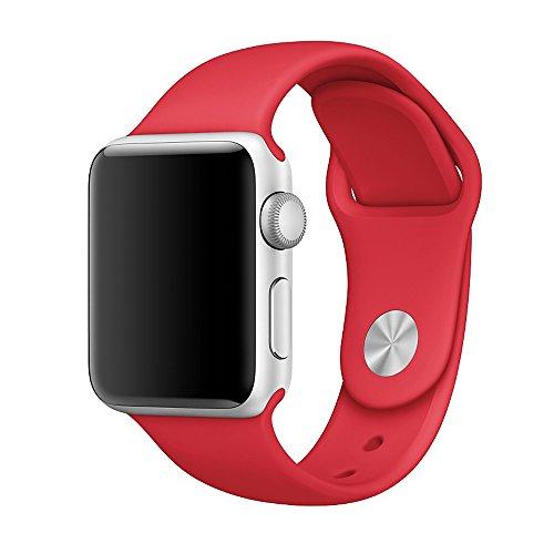 (ウィーティイエス)Vteyes Apple Watch アップルウォッチ ラバーベルト フルオロエラストマー製のスポーツバンド ピンをはめ込むバックルをもつシリコン腕時計スポーツバンド 38mmケース