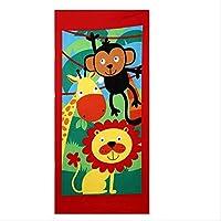 バスタオルマイクロファイバー印刷活動ビーチタオルヘアスーパーソフトウォーター漫画動物園70x140cm