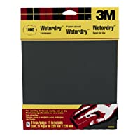 3M Wetordry Sandpaper, 1000-Grit, 9-Inch by 11-Inch by 3M