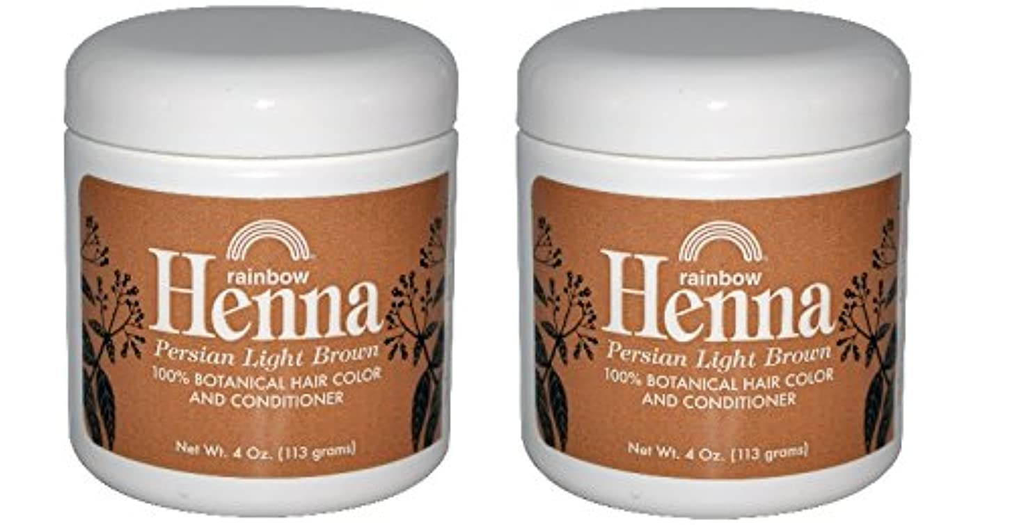 グリーンランドましい瞑想的【海外直送品】 2個セット 100% オーガニック ヘナ/ヘンナ ライトブラウン 113グラム 【2pk】 Rainbow Research, Henna, 100% Botanical Hair Color and Conditioner...