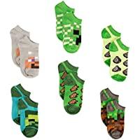 Minecraft Little Boys Low Cut Socks, 6 Pair Pack