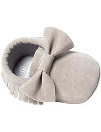 ZOEREA(ゾエレア) 歩行練習シューズ ベビーシューズ ソフトソールシューズ ルームシューズベビー 幼児シューズ 新生児靴 滑り止め 柔らか 出産お祝い フリンジと蝶リボン飾り 女の子 赤ちゃん靴