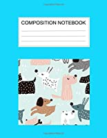 Composition notebook: Ruled (8.5 x 11 in), 110 Pages: Diary Book For Girl, Journal Notebook For Kids, Writing Journal Lined, Cute Pets (8.5 x 11 in), 110 Pages (cute comp)