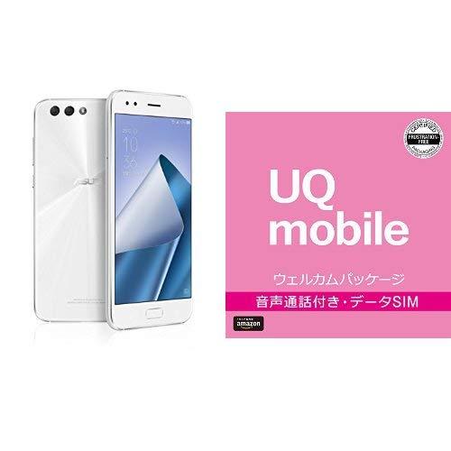 ASUS ZenFone4 SIMフリー スマートフォン (ホワイト/5.5インチ)日本正規代理店品(オクタコアCPU/6GB/64GB/3300mAh) ZE554KL-WH64S6/A ZE554KL-WH64S6/A  BIGLOBE UQモバイル エントリーパッケージセット