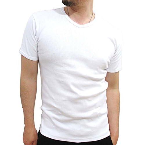 (アビレックス)AVIREX テレコ Vネック Tシャツ メンズ 半袖 M ホワイト