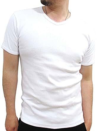 (アビレックス)AVIREX テレコ Vネック Tシャツ メンズ 半袖 S ブラック