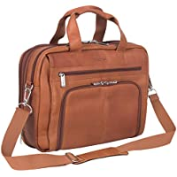 "Kenneth Cole Reaction Out of The Bag Colombian Leather Double Compartment Expandable Top Zip Portfolio/Computer Case/Fits Most 15.4"" Laptops"