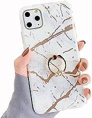 iPhone11 ケース リング付き 大理石 スマホケース アイフォン11 ケース リング キラキラ 可愛い 光沢 マーブル ソフトケース 【Sakanana】iPhone11 カバー 人気 女性 おしゃれ 携帯ケース