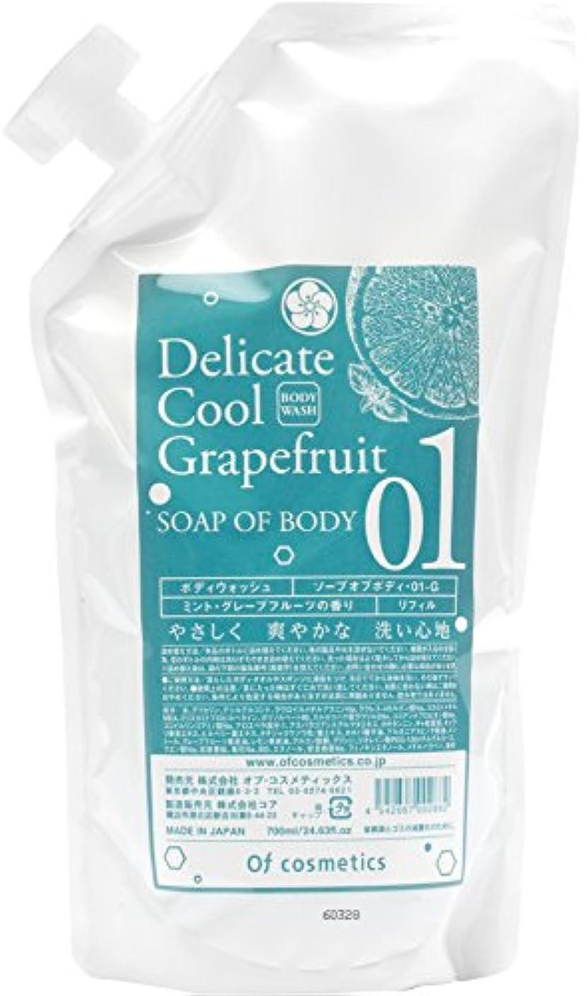 伝記冷凍庫我慢するオブ?コスメティックス ソープオブボディ?01-G リフィルサイズ (ミント?グレープフルーツの香り) 700ml