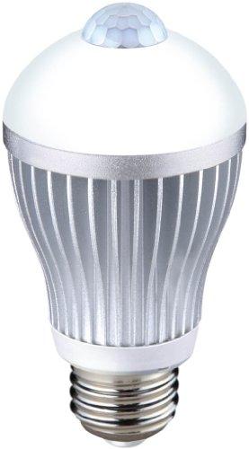 ムサシ RITEX 人センサー付 LED電球 40型 【昼白色】 E26口金 S-LED40N