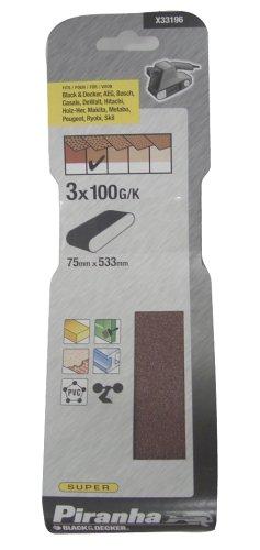 ブラックアンドデッカー サンディングベルト サンダー KA3000用 #100×3枚入り X33196-XJ
