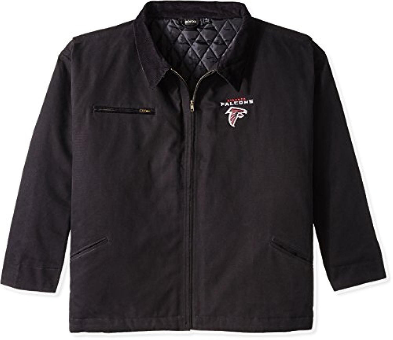 NFL Atlanta Falcons Tradesmanキャンバスキルト裏地ジャケット、ブラック、ミディアム
