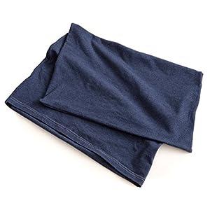mofua(モフア) 枕カバー ネイビー ( たて約35~50cm、よこ55~70cm対応 ) たてよこのびのびフィット 伸縮タイプ #57180007