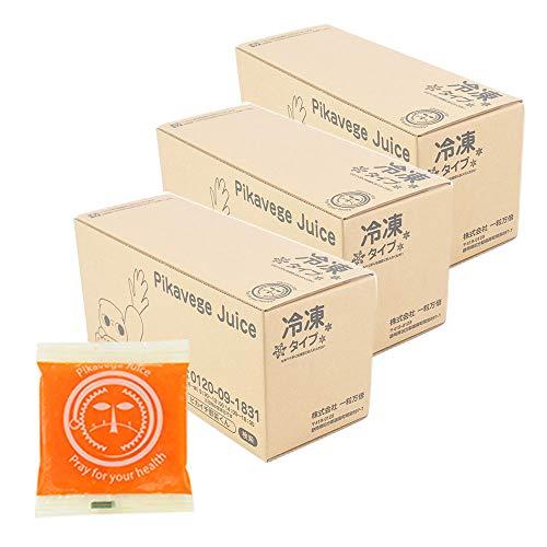 にんじんレモン冷凍ジュース 3箱  100cc×90パック ...