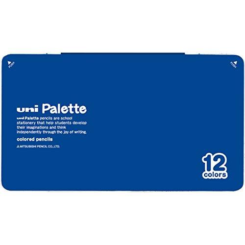 三菱鉛筆 色鉛筆 880 ユニパレット 12色 青