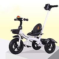 JINHH赤ちゃん三輪車、4 in 1三輪車自転車を折り畳む三輪車の赤ちゃん、折りたたみフットスツール - 調節可能なシート - 管状構造三輪車2-5年
