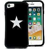 WAYLLY(ウェイリー) iPhone8 ケース iPhone7ケース iPhone6sケース iPhone6ケース くっつくケース 着せ替え 耐衝撃 米軍MIL規格 [スター ブラック×ホワイト] MK