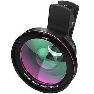 AUKEY スマホ カメラレンズキット 2in1 (10×マクロ、100°0.6×広角レンズ) セルカレンズ クリップ式 iPhone、Samsung、Sony、Android スマートフォン、タプレットなどに対応 PL-WD05