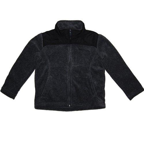 NIKE(ナイキ)【4歳用】男の子用グレーxブラックフリースジャケット 4歳用 110cm 黒フリー...