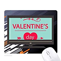 幸せなバレンタインデー・グリーンハート ノンスリップラバーマウスパッドはコンピュータゲームのオフィス