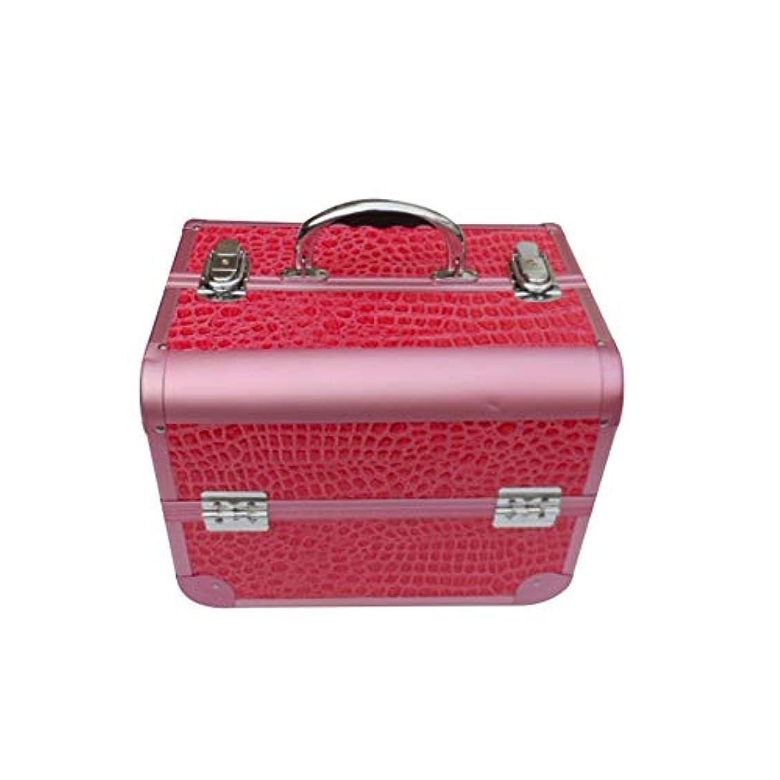 ラフト取る改修化粧オーガナイザーバッグ 女の子の女性のための美容メイクアップのための大容量ポータブル化粧品ケース旅行と拡張トレイ付きロック付きデイリーストレージ 化粧品ケース