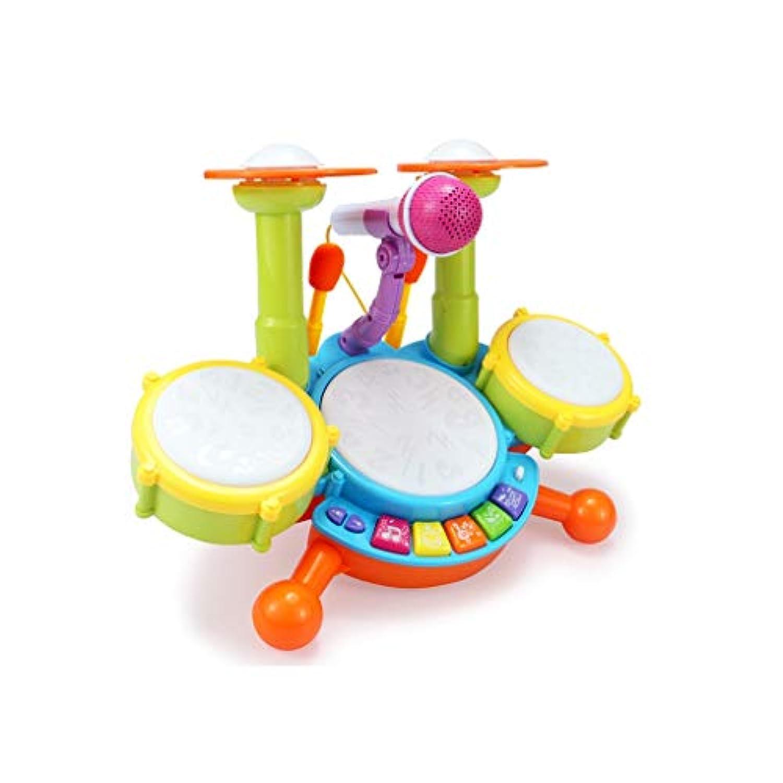 X-CAT 子供用ドラムジャズドラム楽器動的漫画のおもちゃのドラムマイク付 (サイズ さいず : M)