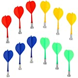 HOMYL 12 Pieces Mix Color Magnetic Darts for Magnetic Dartboard Blue Yellow Red Green
