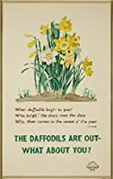 The Daffodils are outヴィンテージポスター(アーティスト:ハットン) England c。1939 16 x 24 Giclee Print LANT-61204-16x24
