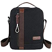 MiCoolker Canvas Small Vintage Multipurpose Shoulder Bag Mens Messenger Handbag Purse Ipad Casual Carrying Tote Case Crossbody Travel Bag