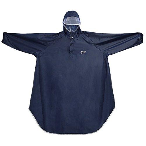 レインコート 自転車 レディース メンズ レインポンチョ 男女兼用 四季通勤通学 フリーサイズ 完全防水 高品質 収納バッグ付き (紺色)