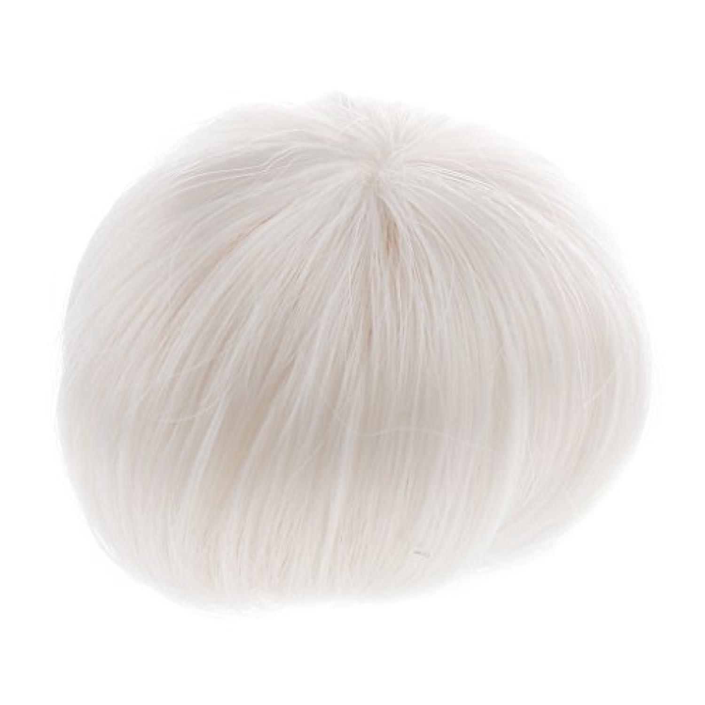 【ノーブランド品】1/8 BJD SD DZの人形用 修理 装飾 短い髪 かつら ドールウィッグ 全2色 - 白