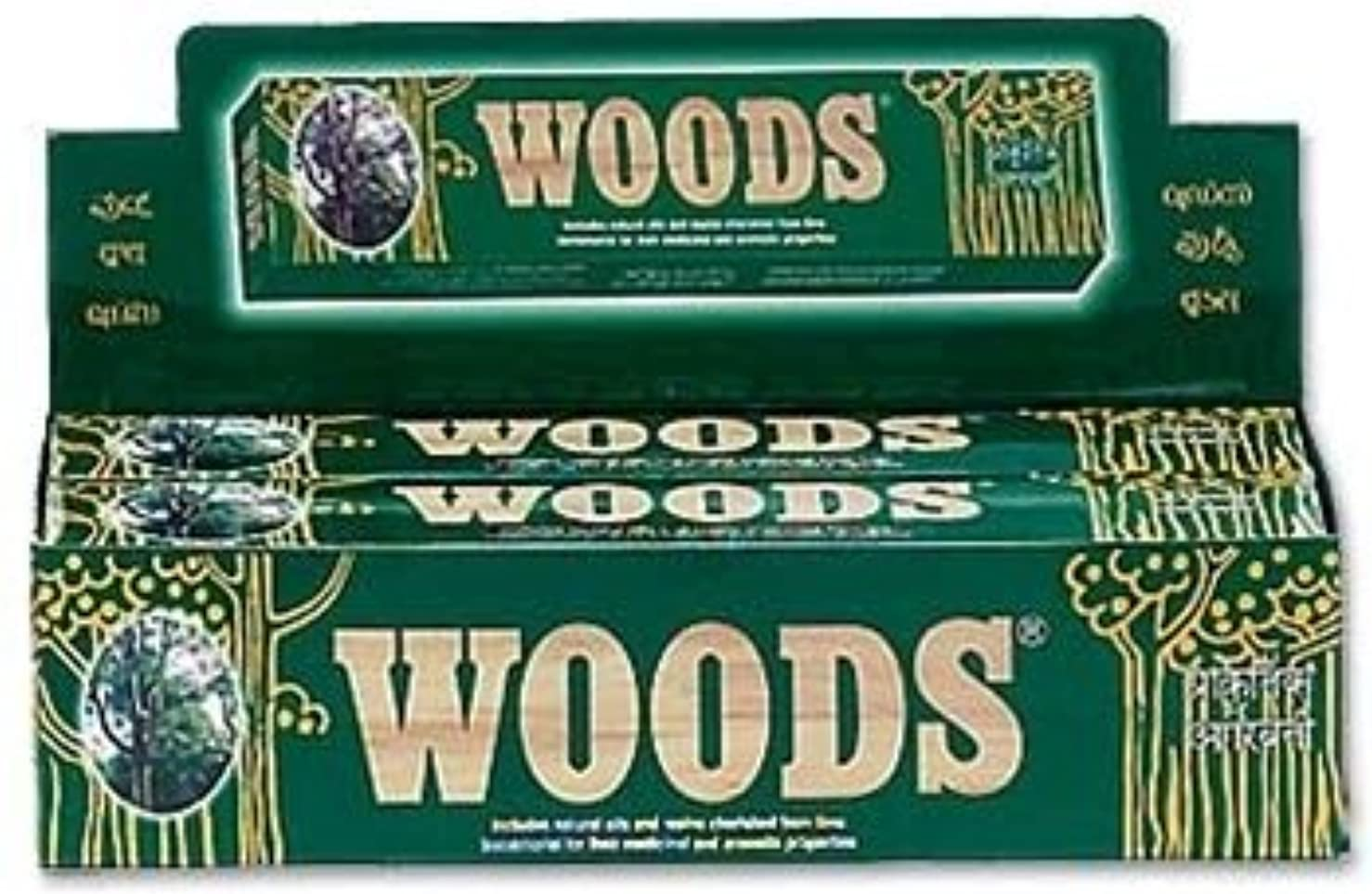 肉の効果アルコールWoods Natural Incense - Wholesale Pack