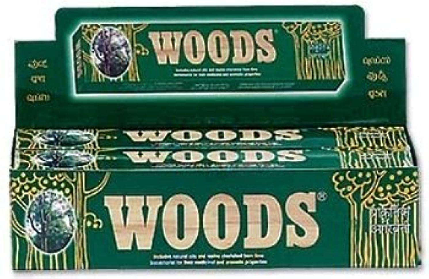 汚すフェローシップ物理Woods Natural Incense - Wholesale Pack
