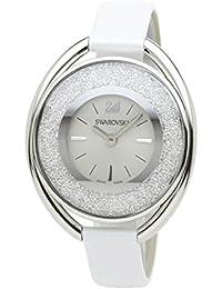 [スワロフスキー]SWAROVSKI 腕時計 クリスタルライン オーバル ホワイト クォーツ ホワイトストラップ 5158548 レディース 【並行輸入品】