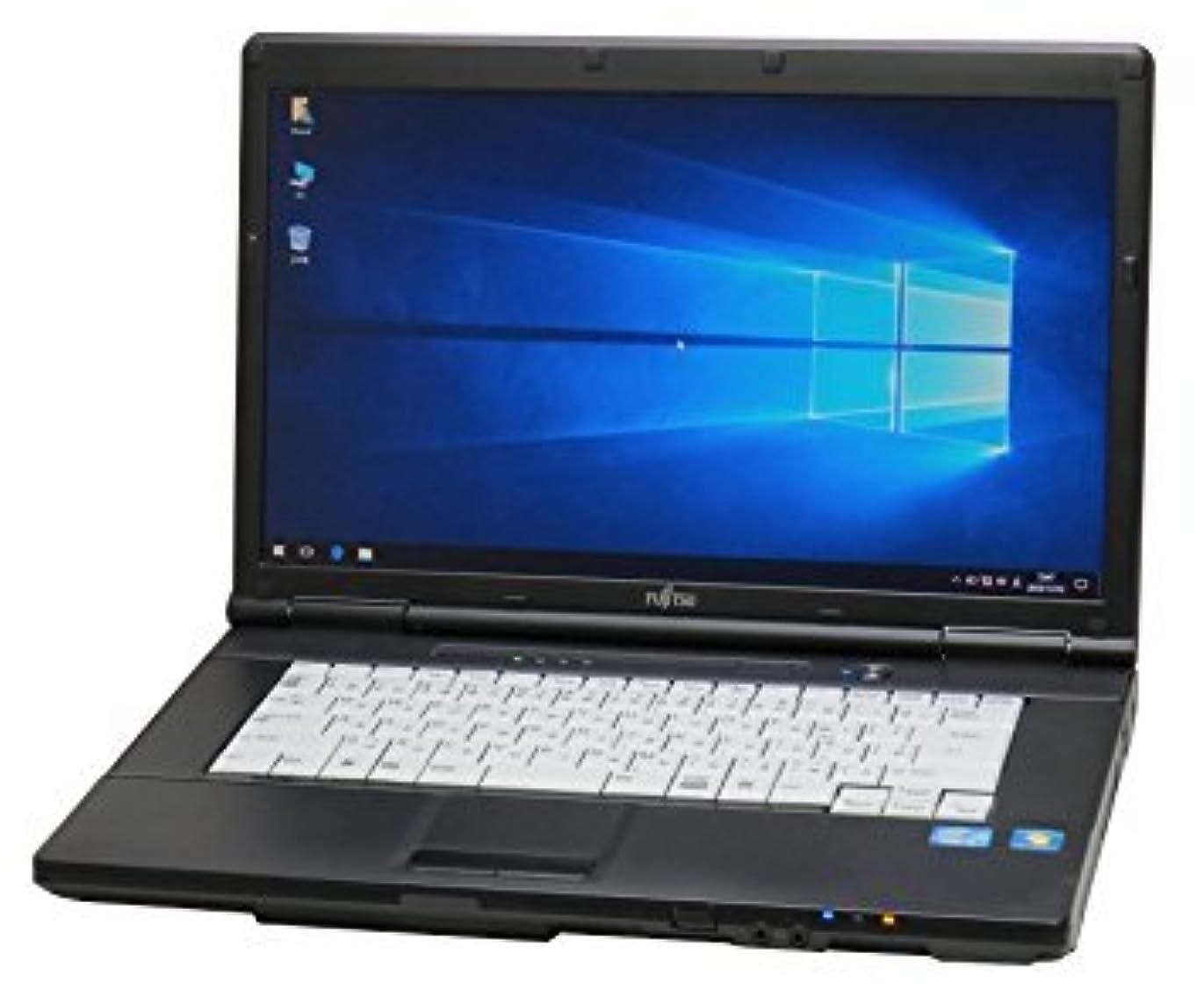 伸ばす敷居所有者大学生向け 初期設定済み? 即使用可 中古パソコン 富士通 LIFEBOOK A561/D Celeron 4GB 250G Windows10 Office2016 15.6w ワイド液晶 無線LAN DVD-ROM搭載
