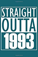 Straight Outta 1993 Notebook: Lined Journal - 6 x 9, 120 Pages, Gift For Music Lover, Teal Matte Finish