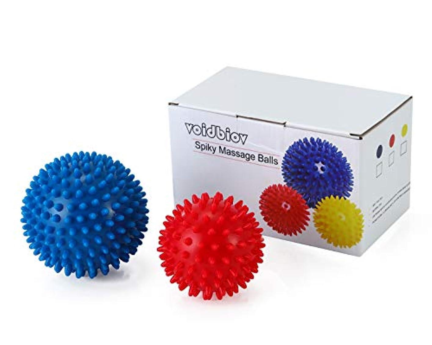 最少パテ種をまくマッサージボール【9CM/7.5CM 2個セットと収納袋】PVCトリガーポイントリフレックスボール、筋肉緊張和らげ、エクササイズ ヨガ ボール ピラティス リハビリトレーニングツール