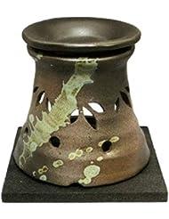 常滑焼?山房窯 カ40-07 茶香炉 杉板付 約φ11.5×11.8cm